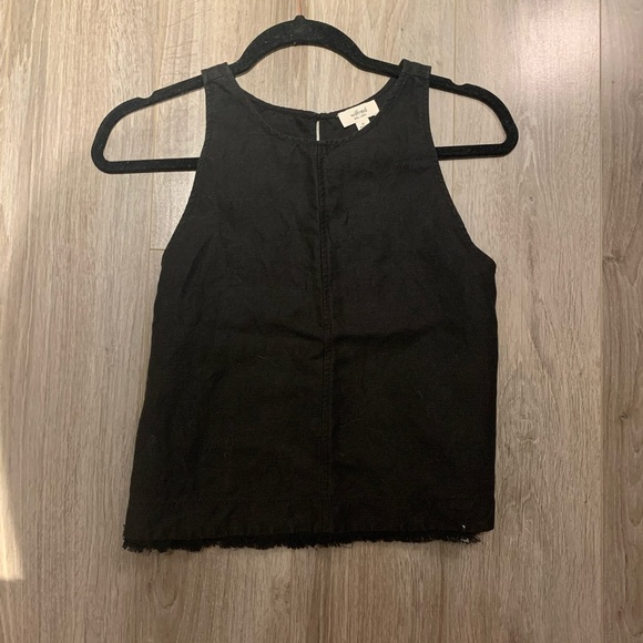 Wilfred Tops - black high necked wilfred tank top